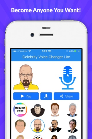 Voice Changer -Celebrity Emoji screenshot 1