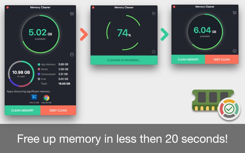 Memory Cleaner - Freeup space for Mac