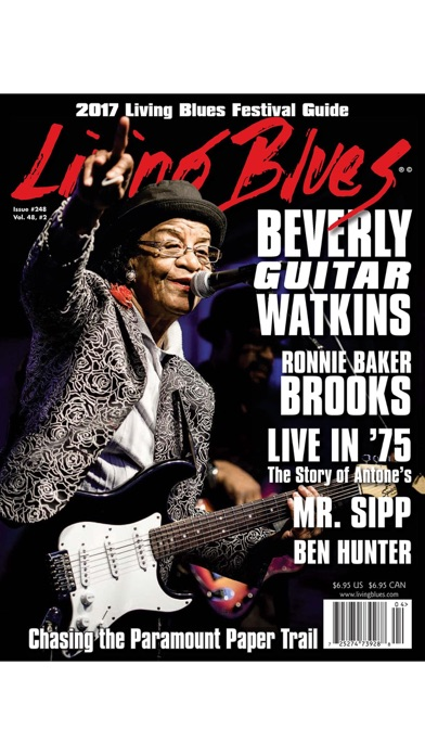 LIVING BLUES MAGAZINE screenshot1