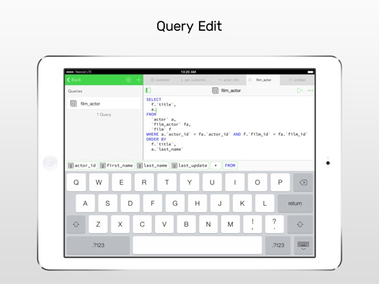 Screenshot #3 for Navicat for MySQL - mobile database management GUI