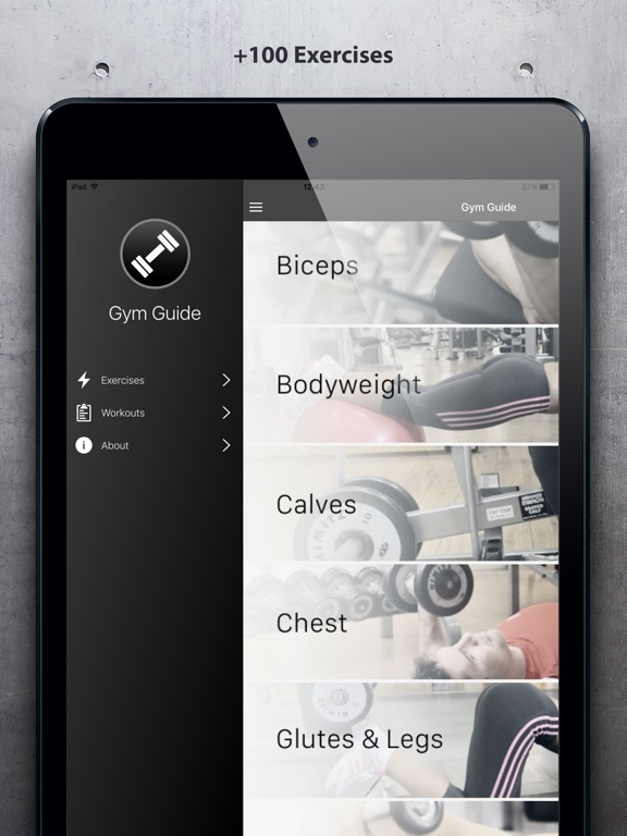 Gym Guide - Workout Tutorial Screenshots