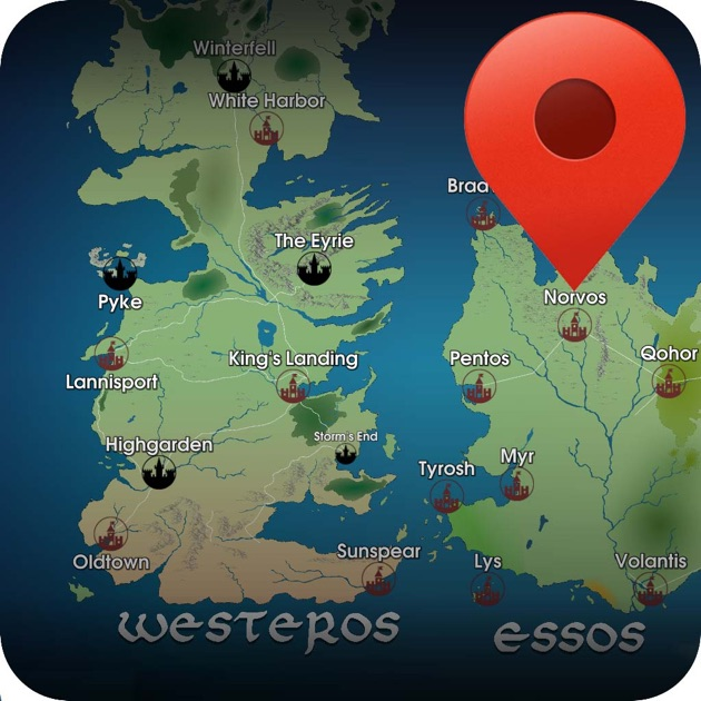 Got Map Recap On The App Store: Detailed Game Of Thrones Map At Slyspyder.com