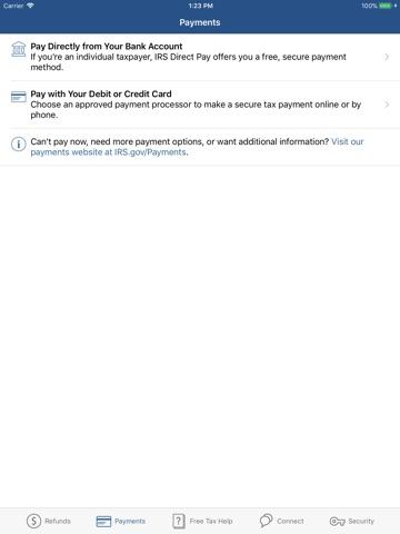 IRS2Go screenshot 2