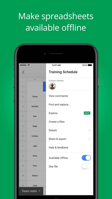 download Google Sheets apps 3