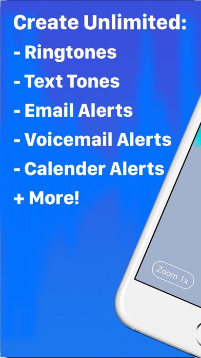Screenshots of Ringtone Designer Pro - Create Unlimited Ringtones, Text Tones, Email Alerts, and More! for iPhone