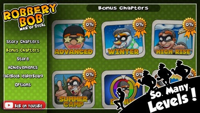 Screenshots of Robbery Bob™ for iPhone