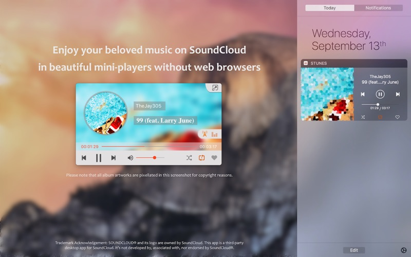 Stunes player for soundcloud on the mac app store screenshot 1 ccuart Image collections