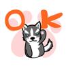 KIM KON KET - HuskyDog Gif Animated Stickers artwork