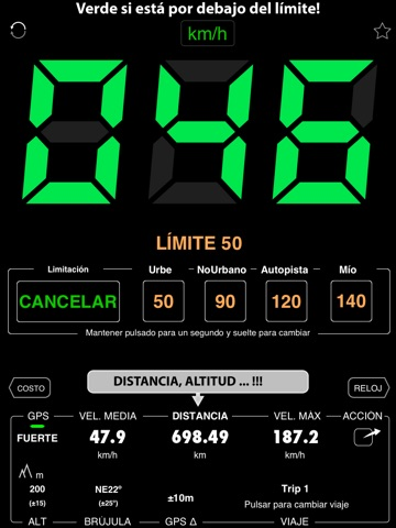 Speedometer 55 Start. GPS Box. screenshot 1