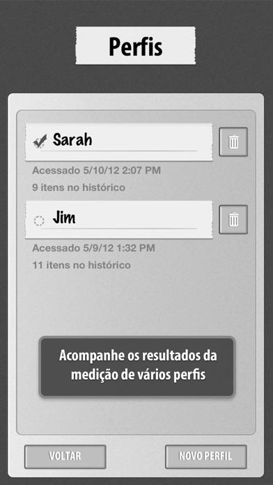 Screenshot do app Cardiógrafo Clássico