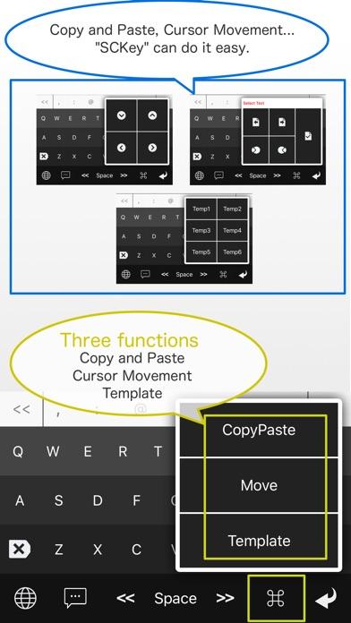 SCKey - Template,Copy,Paste,Shortcut Keyboard Screenshots