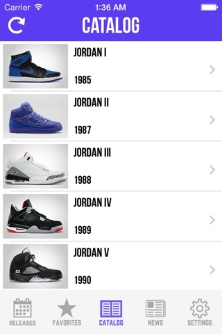 Sneaker Crush - Release Dates screenshot 4