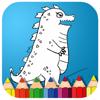 Painting Cartoon Animal Godzilla Coloring Wiki
