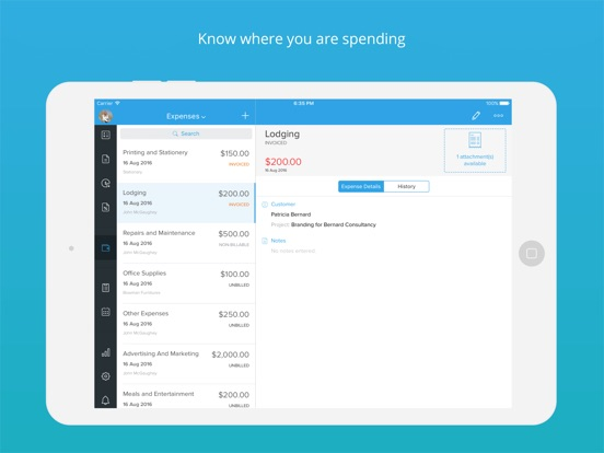 invoice amp time tracking zoho on the app store