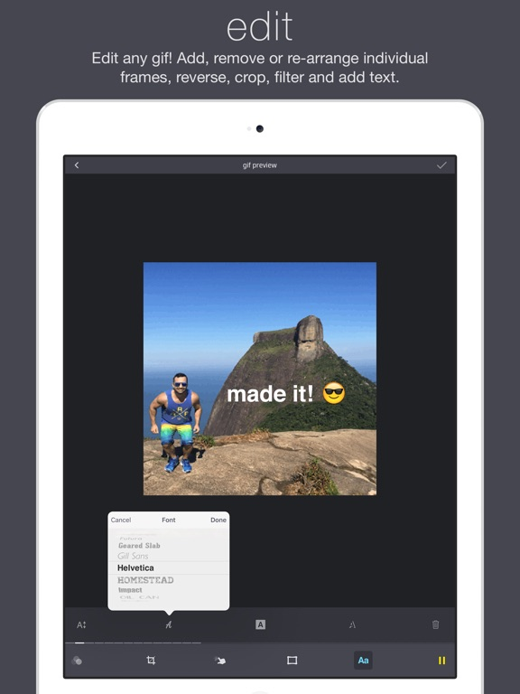 Giffer animated gif maker on the app store ipad screenshot 4 ipad screenshot 5 giffer animated gif maker negle Gallery