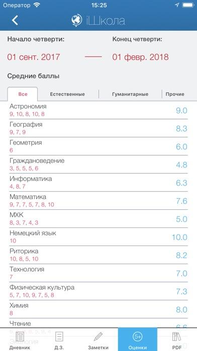 iШкола - школьный дневник Скриншоты6