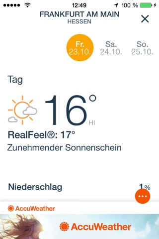 AccuWeather: Weather for Life screenshot 4