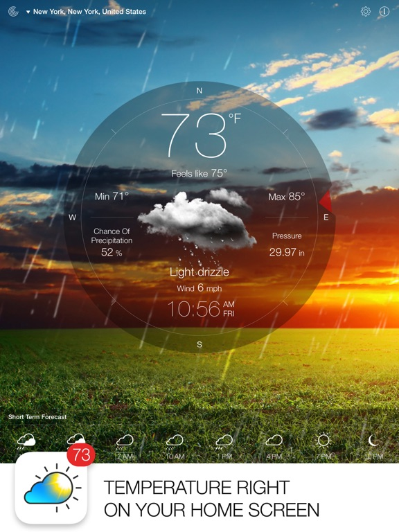 Screenshot #1 for Weather Live.
