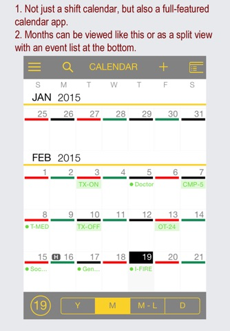 FireSync Shift Calendar screenshot 1