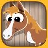 活躍!兒童遊戲2-5歲馬匹: 學習 關於馬,小馬,馬術,種馬,動物幼兒園,幼兒園或托兒所