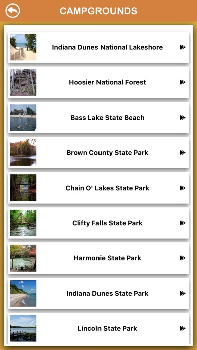 Screenshot for Indiana National Parks in Canada App Store