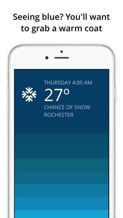 Blue - weather forecast Screenshots