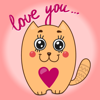 Funny cats - Set of beautiful cute emoji emotions Wiki