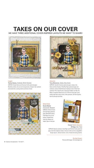 Creative Scrapbooker Magazine review screenshots