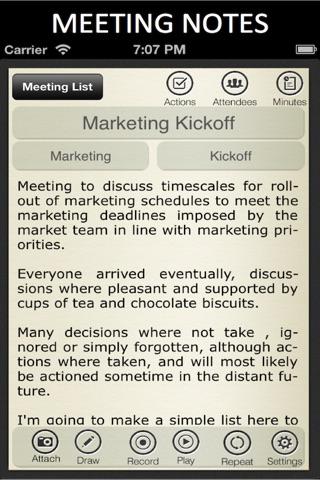 Meeting Notes screenshot 2