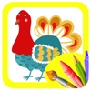 Turkeys Animal Coloring Book Games Education