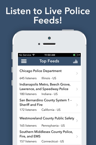 Police Scanner Radio - Pro screenshot 1