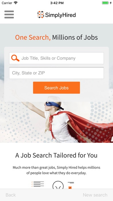 job search simply hired on the app store