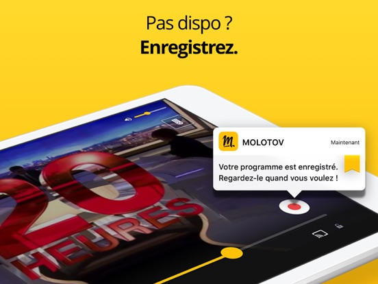 Molotov - TV en direct, replay iPad
