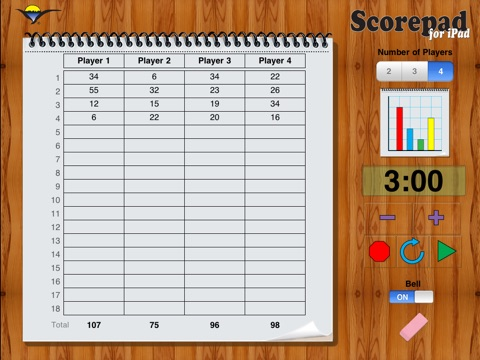 Scorepad for iPad screenshot 1