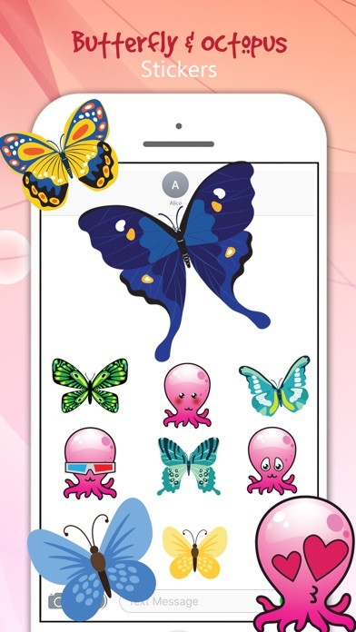 download Butterfly & Octopus Stickers apps 0