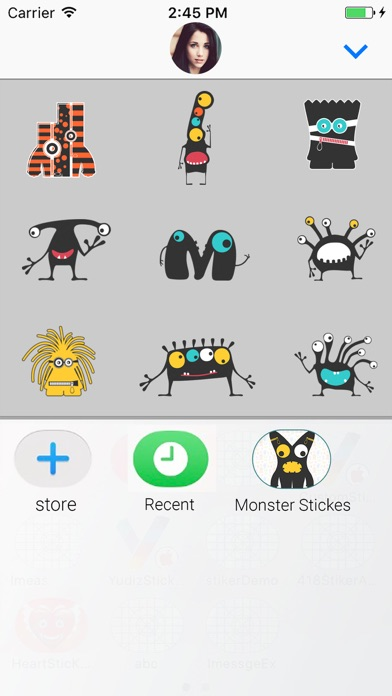 download Cute Monster Animated Stickers apps 3