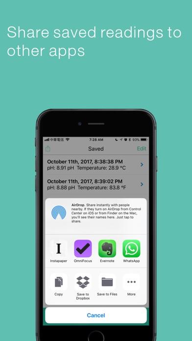 Screenshot of pH Pro for Jenco PH610B App