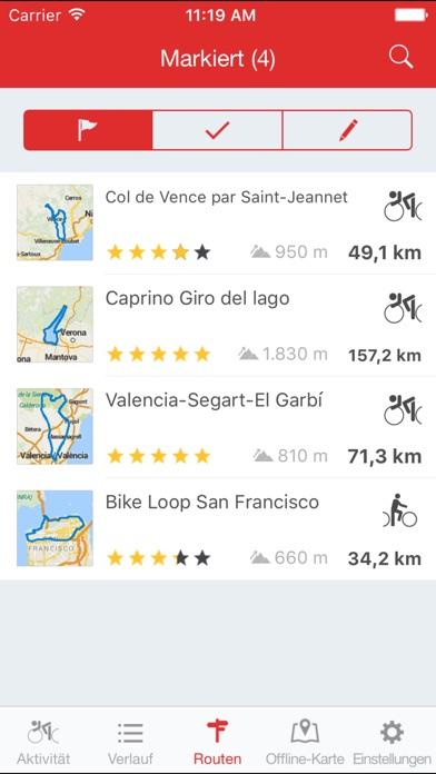 Runtastic Road Bike GPS PRO Screenshot