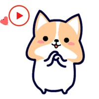 Puppy Dog Animated Stickers