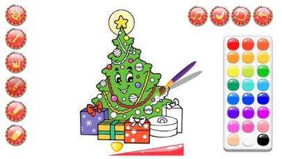 圣诞节涂色花园-女生画画填色书