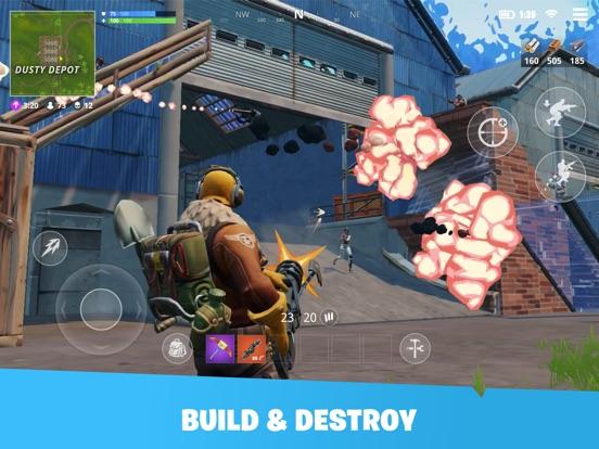 Screenshots of Fortnite for iPad
