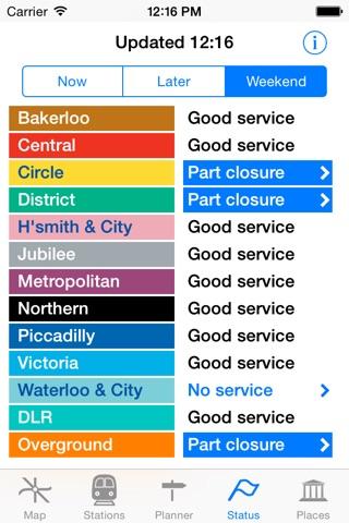 London Tube Map and Guide screenshot 2