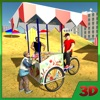 Beach Ice Cream Bicycle Cart