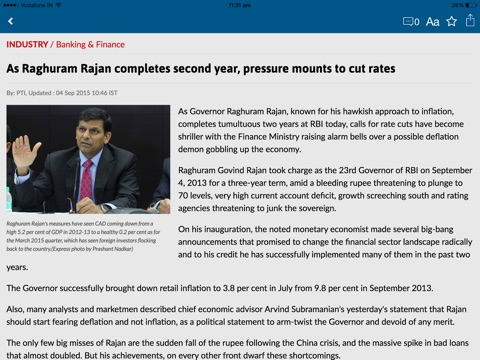 The Financial Express screenshot 4