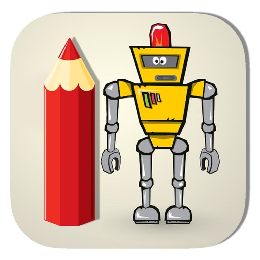 Kids Coloring Page Game Super Iron Robot Version iOS App