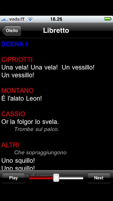 Screenshot of Opera: Otello2