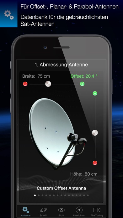 satfinder sat antennen professionell ausrichten im app. Black Bedroom Furniture Sets. Home Design Ideas