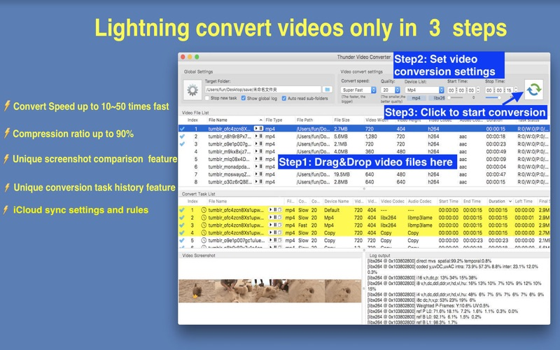 Thunder Video Converter Pro Screenshots