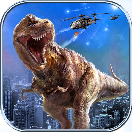 Dinosaur Hunter Simulator 2017 : City Attack 3D iOS App