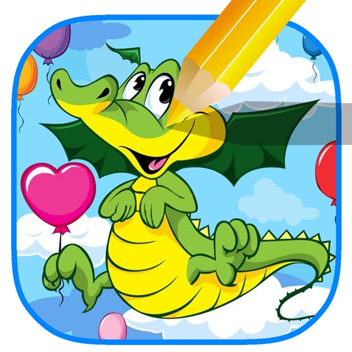 Coloring Page Game Dragon Story Free Play Version iOS App